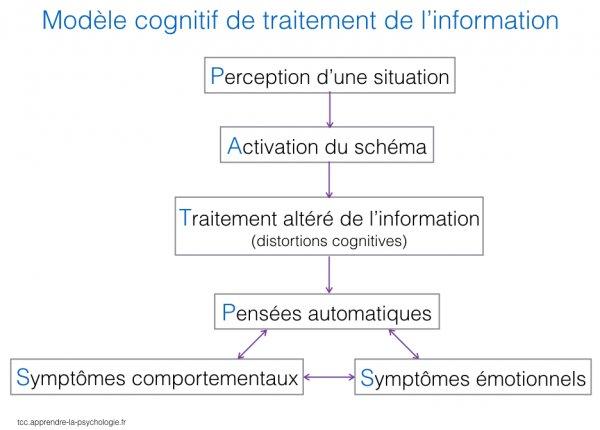 Schéma modèle cognitif traitement de l\'information